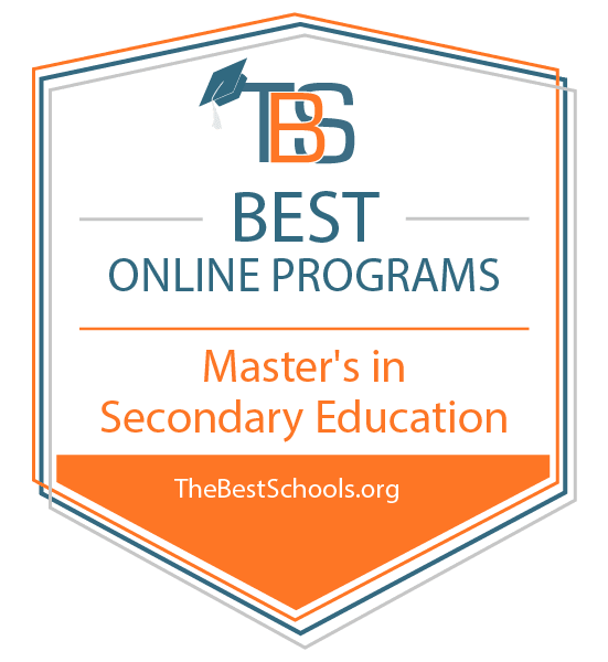 Top Online Master's in Secondary Education Degree Programs Badge