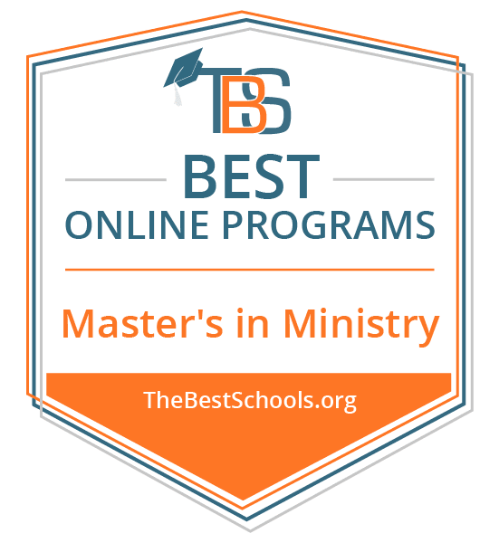 Top Online Master's in Ministry Degree Programs Badge