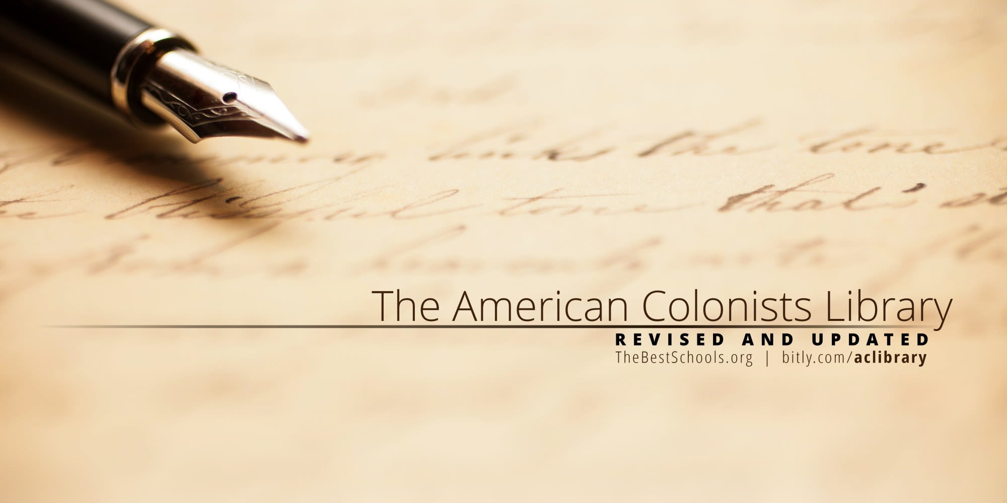 The American Colonists Library—Revised & Updated | TheBestSchools org