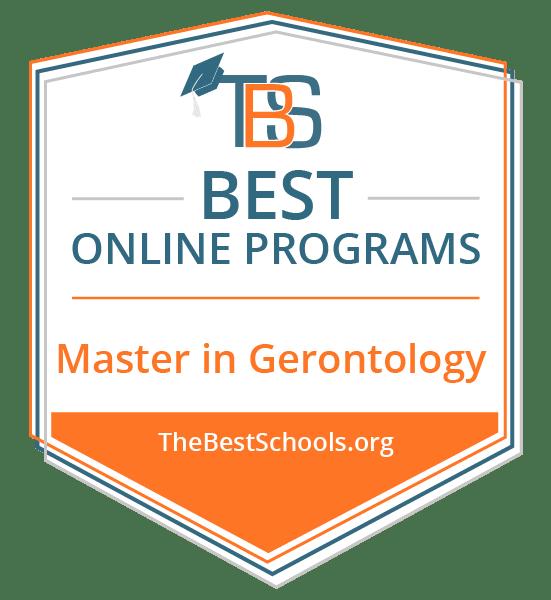 Top Online Master's in Gerontology Degree Programs Badge