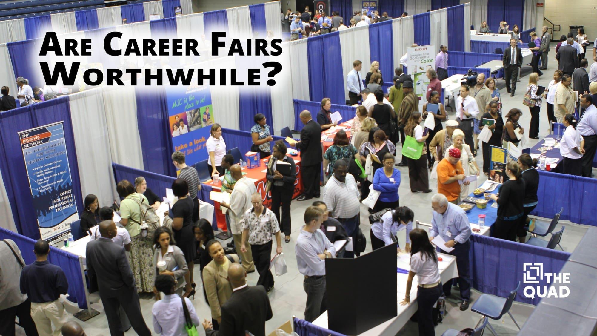 what happens at job fairs