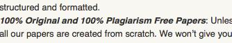 Plagiarism-Free