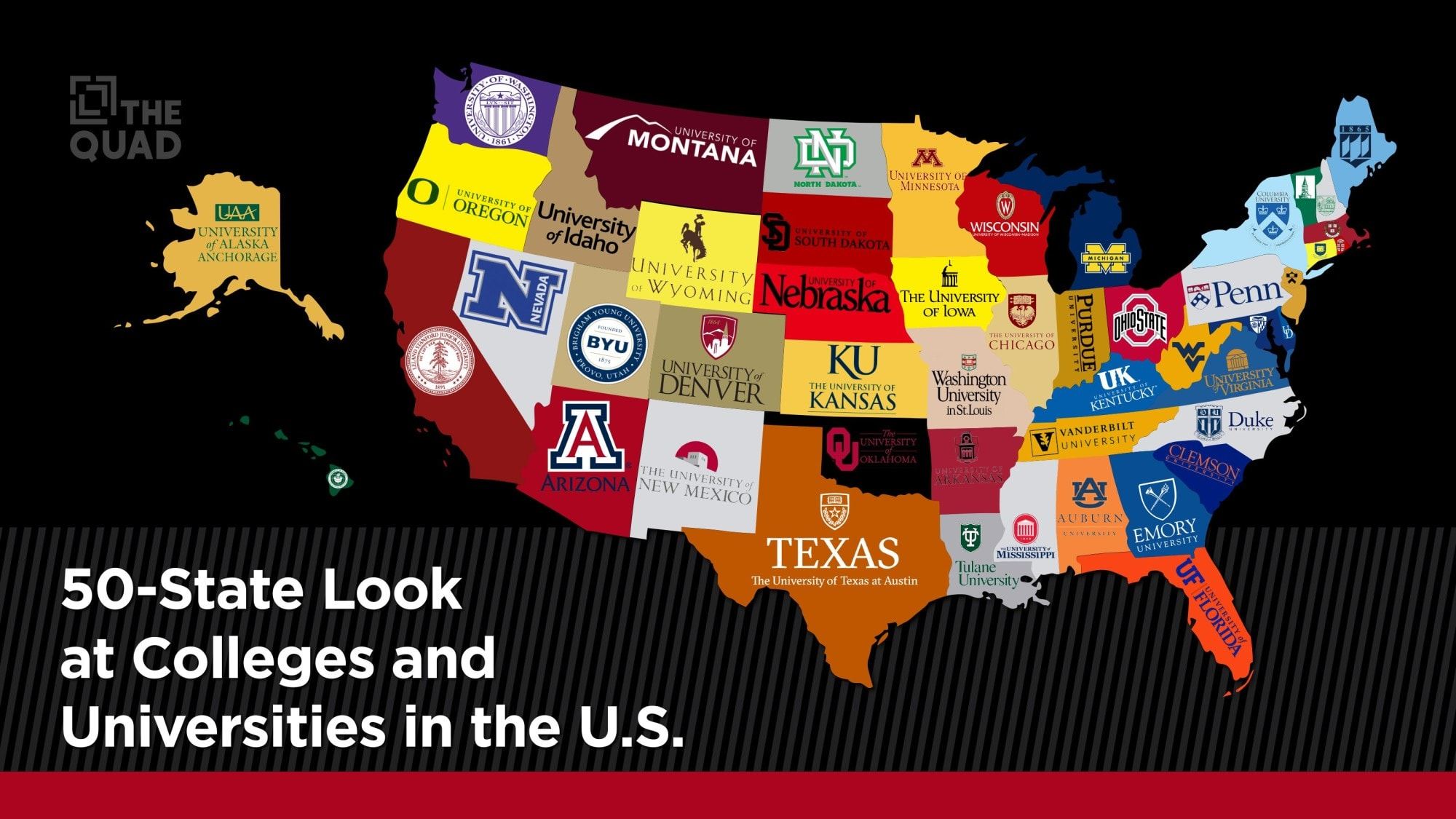 A 50-State Look at Colleges & Universities in the U S  | The Quad