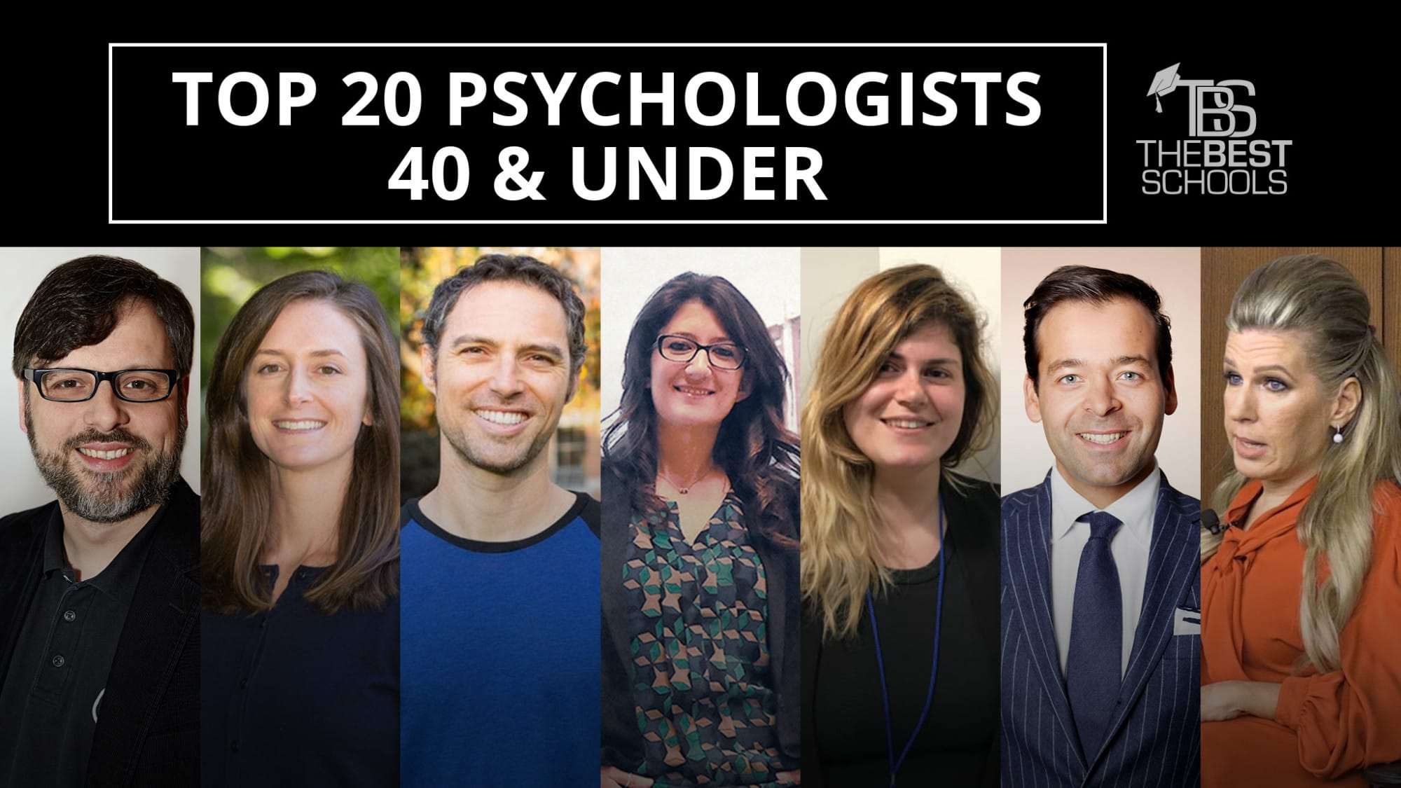 The Top 20 Psychologists 40 & Under | TheBestSchools org