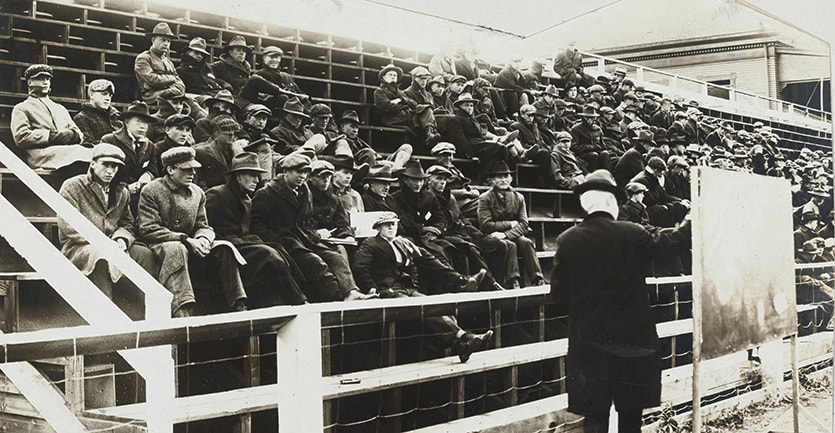 During the Spanish flu pandemic at the University of Montana, classes were held in the open.