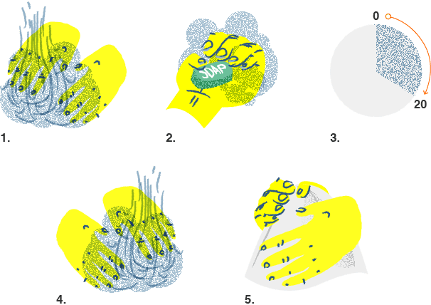 Illustration of how to properly wash your hands