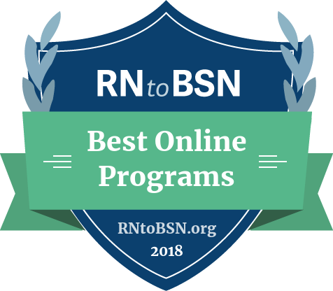 Badge for Best Online RN to BSN Programs
