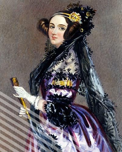 A portrait of a young Ada Lovelace.