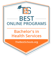 Best Online Bachelor's in Health Services Badge
