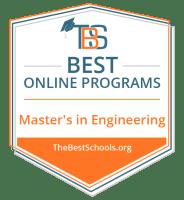 Best Online Master's in Engineering Badge