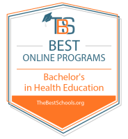 Best Online Bachelor's in Health Education Badge