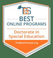Best Online Special Education Doctorate Programs Badge