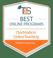 Best Online Doctorate in Online Teaching Programs Badge