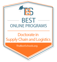 Best Online Doctorate in Supply Chain and Logistics Programs Badge