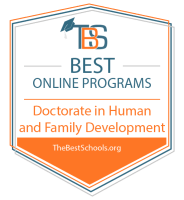 Best Online Doctorate in Human and Family Development Badge