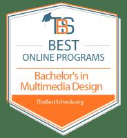 Download the Best Online Bachelor's in Multimedia Design Programs Badge