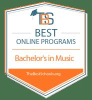 Best Online Bachelor's in Music Degree Programs Badge