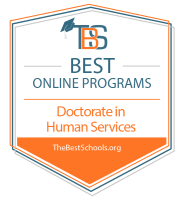 Best Online Doctorate in Human Services Badge