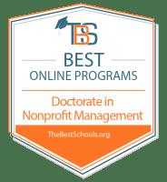 Best Online Doctorate in Nonprofit Management Programs Badge