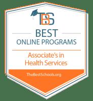 Download the Best Online Associate in Health Services Programs Badge