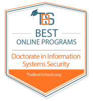 Download the Best Online Doctorate in Information Systems Degree Programs Badge