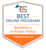 Best Online Bachelor's in Public Policy Programs Badge