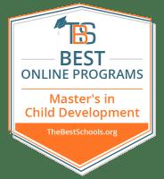 Top Online Master's in Child Development Degree Programs Badge