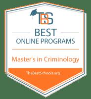 Best Online Master's in Criminology Badge