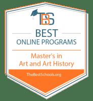 Top Online Master's in Art & Art History Degree Programs Badge