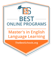 Top Online Master's in English Language Learning Degree Programs Badge