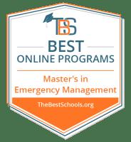 Top Online Master's in Emergency Management Degree Programs Badge
