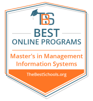 Top Online Master's in Management Information Systems Degree Programs Badge