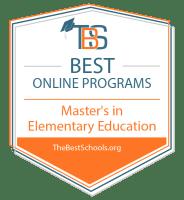 Top Online Master's in Elementary Education Degree Programs Badge