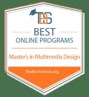 Best Online Master's in Multimedia Design Badge