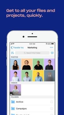 iPhone screen grab for Dropbox Plus, via iTunes