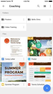 iPhone screen grab for Google Drive, via iTunes