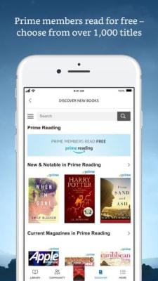 iPhone screen grab for Amazon Kindle, via iTunes