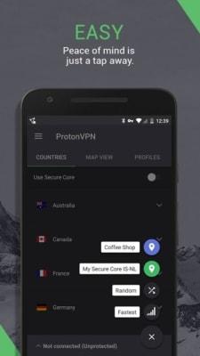 iPhone screen grab for ProtonVPN, via iTunes