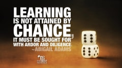 "Image #49: ""Learning is not attained by chance, it must be sought for with ardor and diligence.""Abigail Adams Quote"
