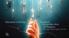 "Image #12: ""Education is the key to unlock the golden door of freedom.""George Washington Carver Quote"