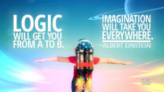 "Image #41: ""Logic will get you from A to B. Imagination will take you everywhere.""Albert Einstein Quote"