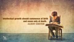"Image #31: ""Intellectual growth should commence at birth and cease only at death.""—Albert EinsteinAlbert Einstein Quote"
