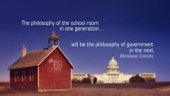 "Image #5: ""The philosophy of the school room in one generation will be the philosophy of government in the next.""Abraham Lincoln Quote"