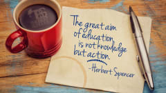 "Image #20: ""The great aim of education is not knowledge but action.""Herbert Spencer Quote"