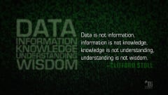 "Image #15: ""Data is not information, information is not knowledge, knowledge is not understanding, understanding is not wisdom.""Clifford Stoll Quote"