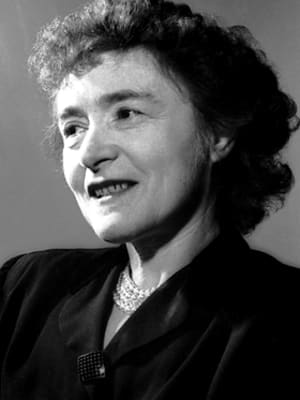 A close-up black and white photo of Gerty Theresa Cori