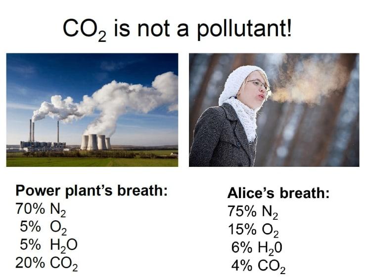Power Plant Exhaust vs. Human Exhalation