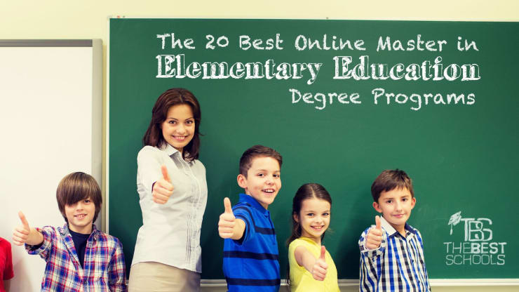 Online Masters In Education >> The 30 Best Online Master S In Elementary Education Degree Programs