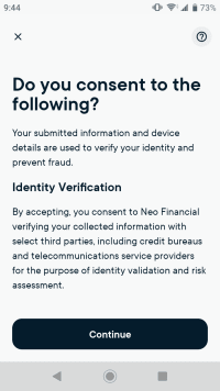 Consent for identity verification