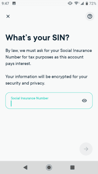 Enter your Social Insurance Number